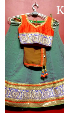 Two Tone Grey Lehenga  Contrast Blouse